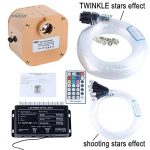 CHINLY 16W RGBW RF Twinkle LED à distance Fiber optique Star Plafonnier Kit 335 Brins 4 m de long, (0.75 + 1.0 + 1.5mm) Fibre Optique + 3pcs Shooting Etoiles Effet de la marque CHINLY image 1 produit